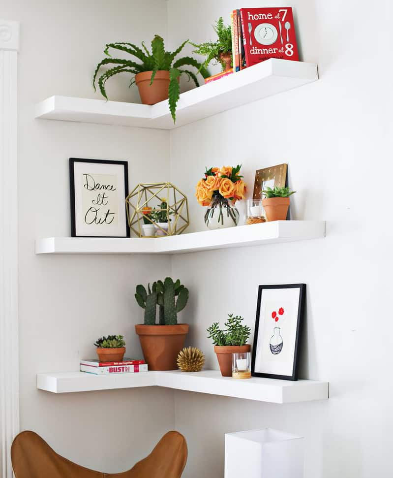 Diy Floating Corner Shelves A