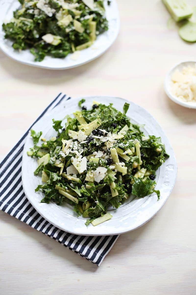 Creamy Apple + Kale Salad