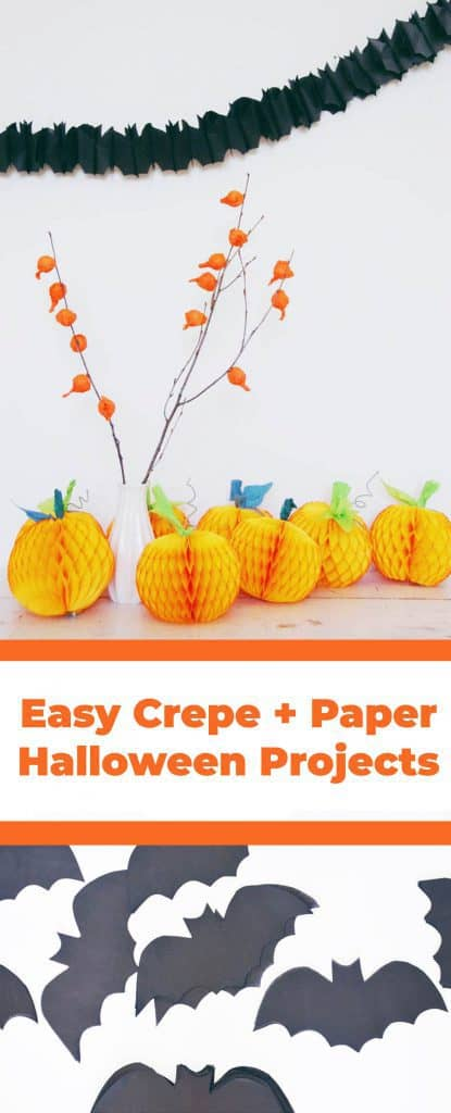 3 Easy Crepe Tissue Paper Halloween Projects A Beautiful Mess