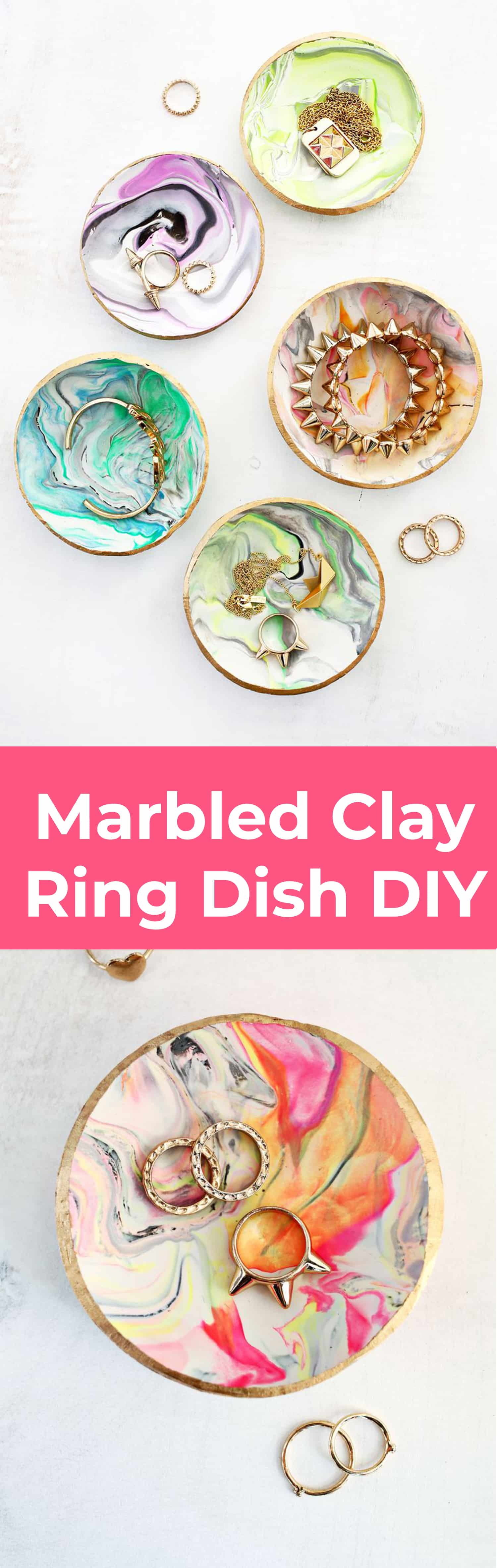 Marbled Clay Ring Dish - A Beautiful Mess