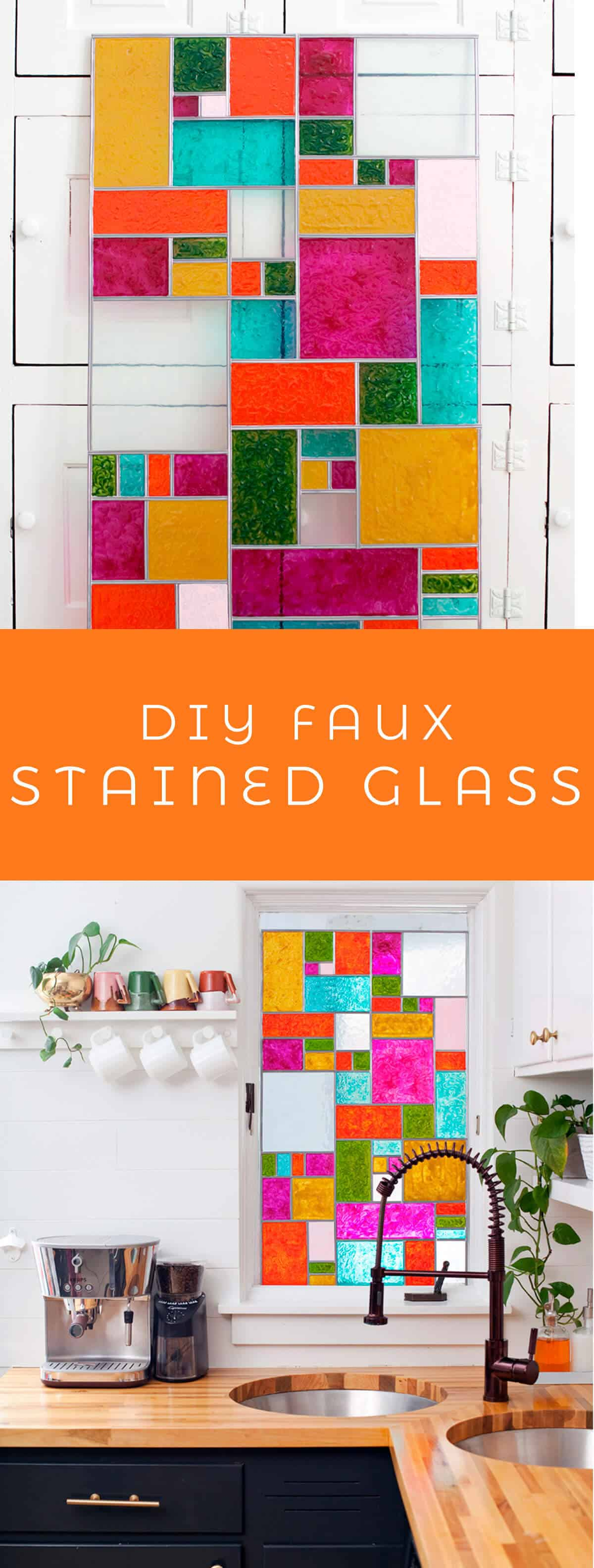 Diy Faux Stained Glass A Beautiful Mess