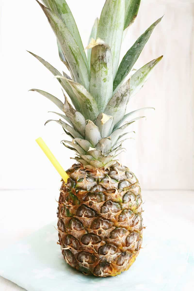 Pineapple Coconut Daiquiri In A Pineapple Cup A