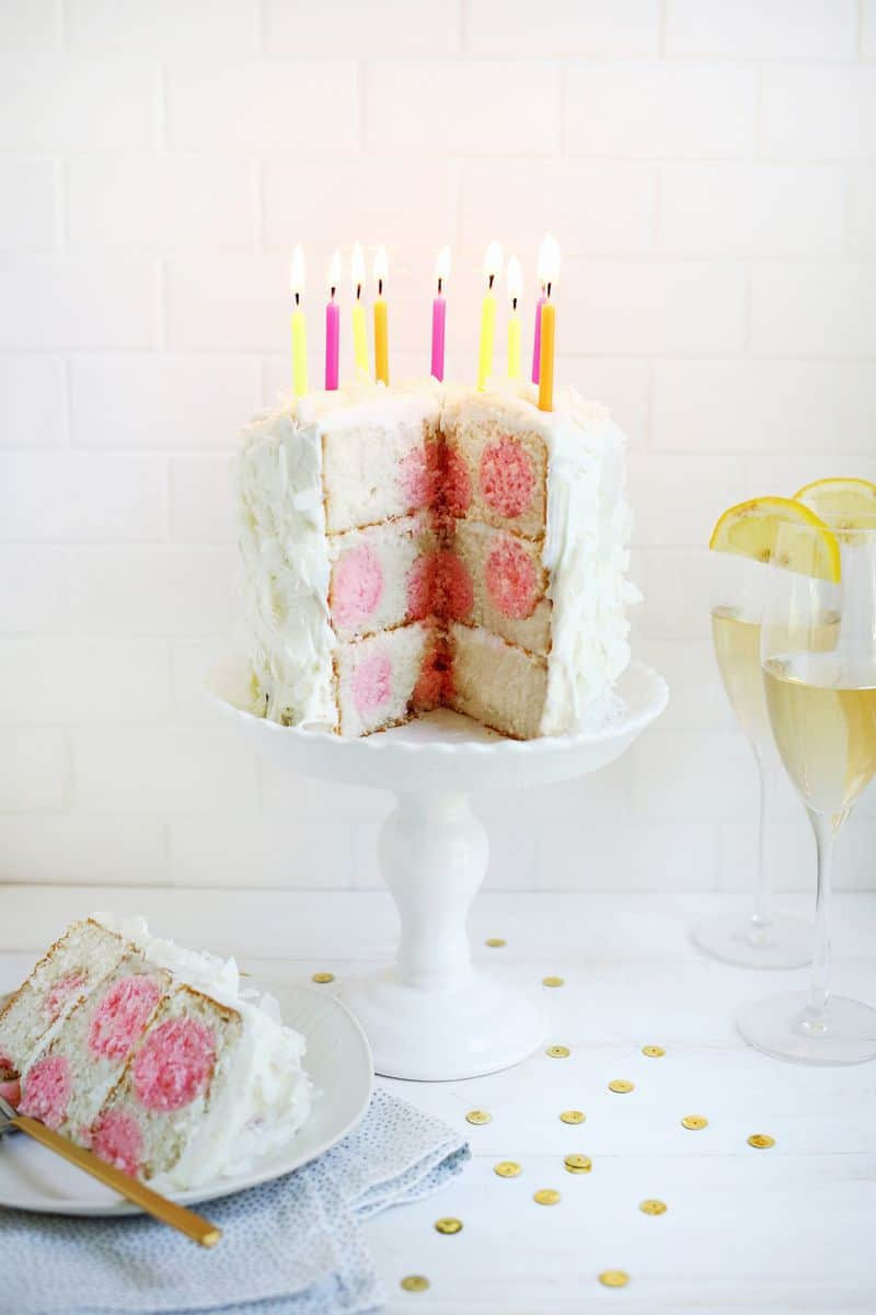 Surprising Polka Dot Cake A Beautiful Mess Funny Birthday Cards Online Fluifree Goldxyz