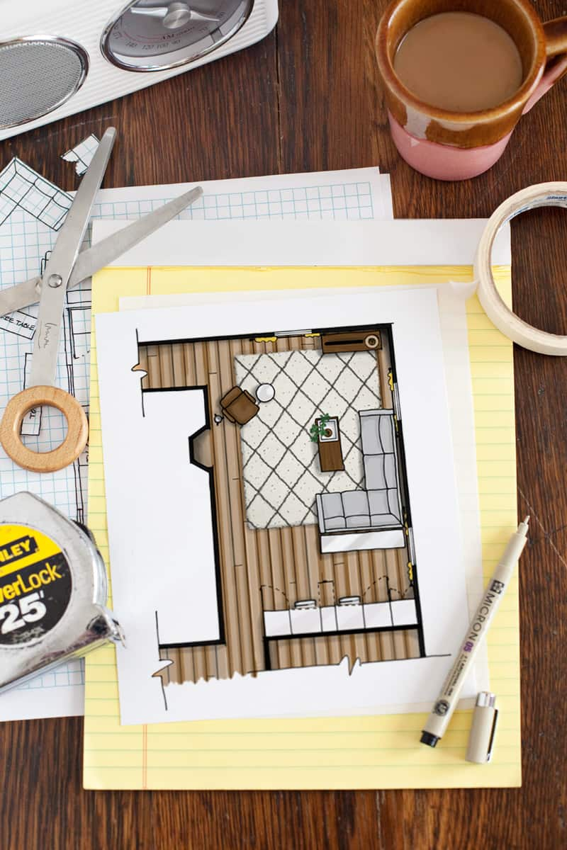How To Draw A Floor Plan Beautiful Mess