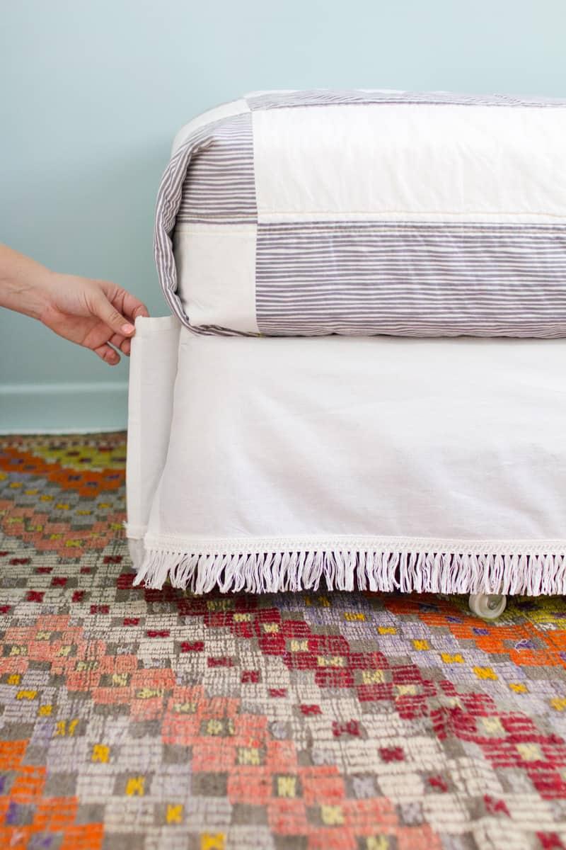 Diy Velcro Bedskirt A Beautiful Mess