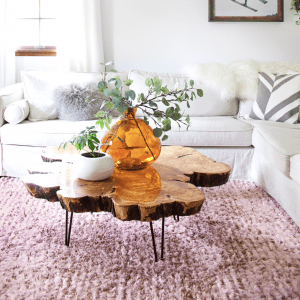 sourcing materials for a live edge coffee table - Home Decor 101