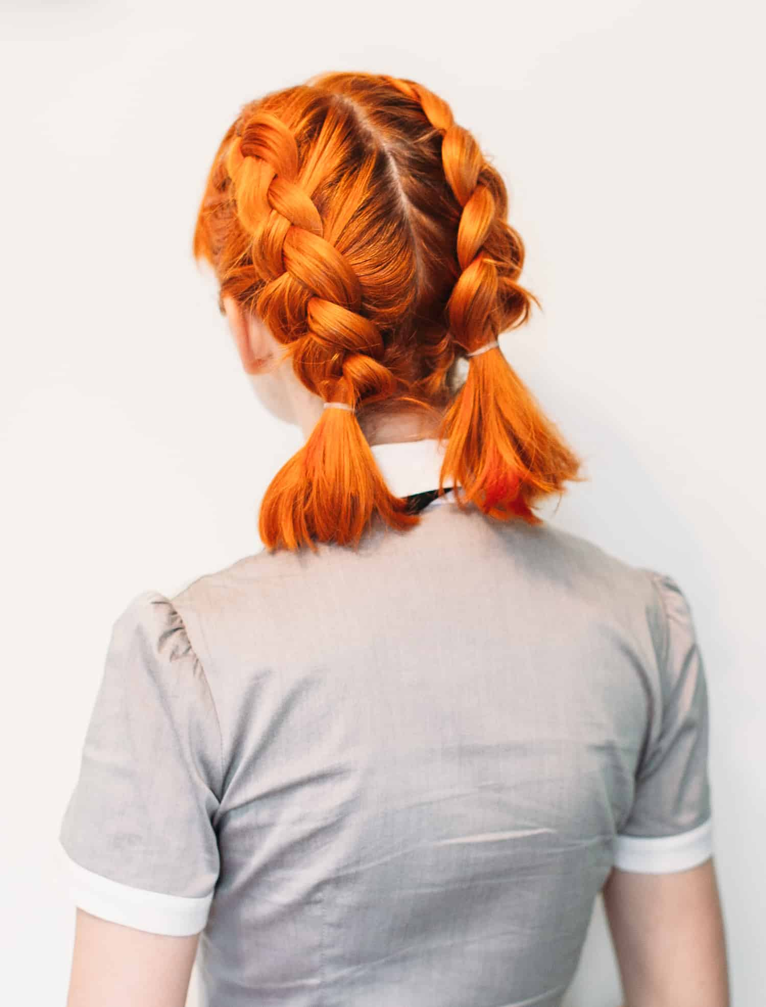 Double Dutch Pigtails for Short Hair - A Beautiful Mess