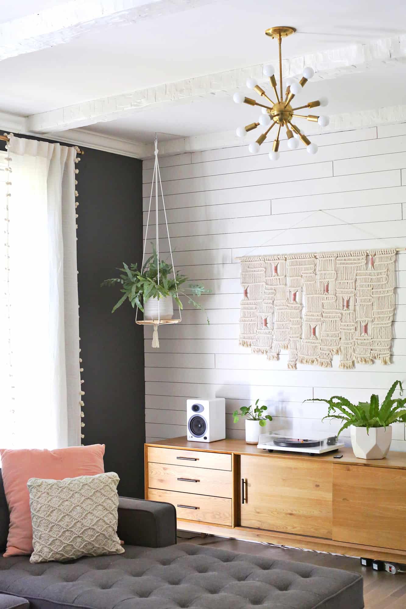 Hanging Plant Shelf DIY   A Beautiful Mess