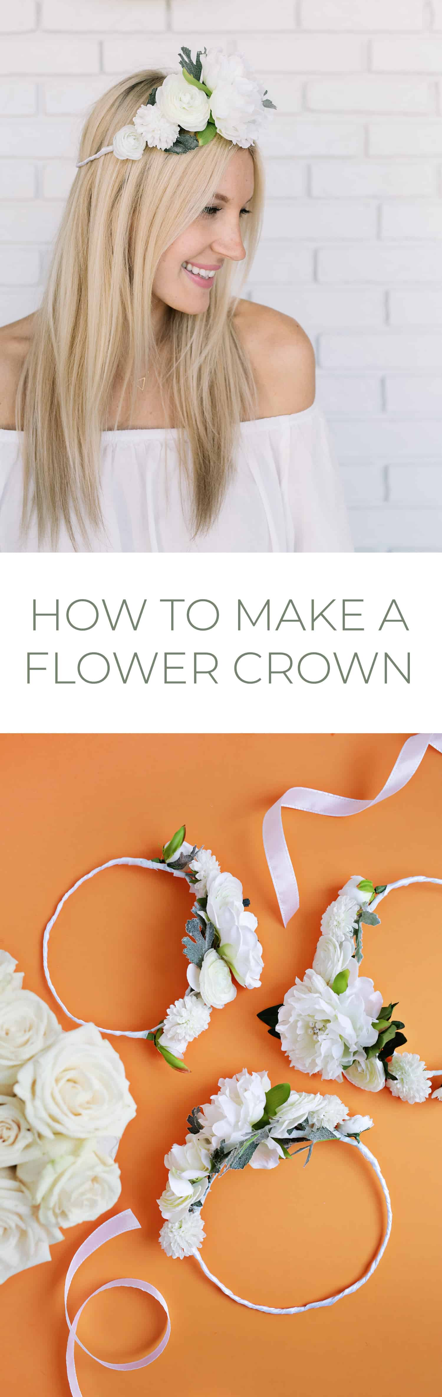 White Flower Crown Diy A Beautiful Mess