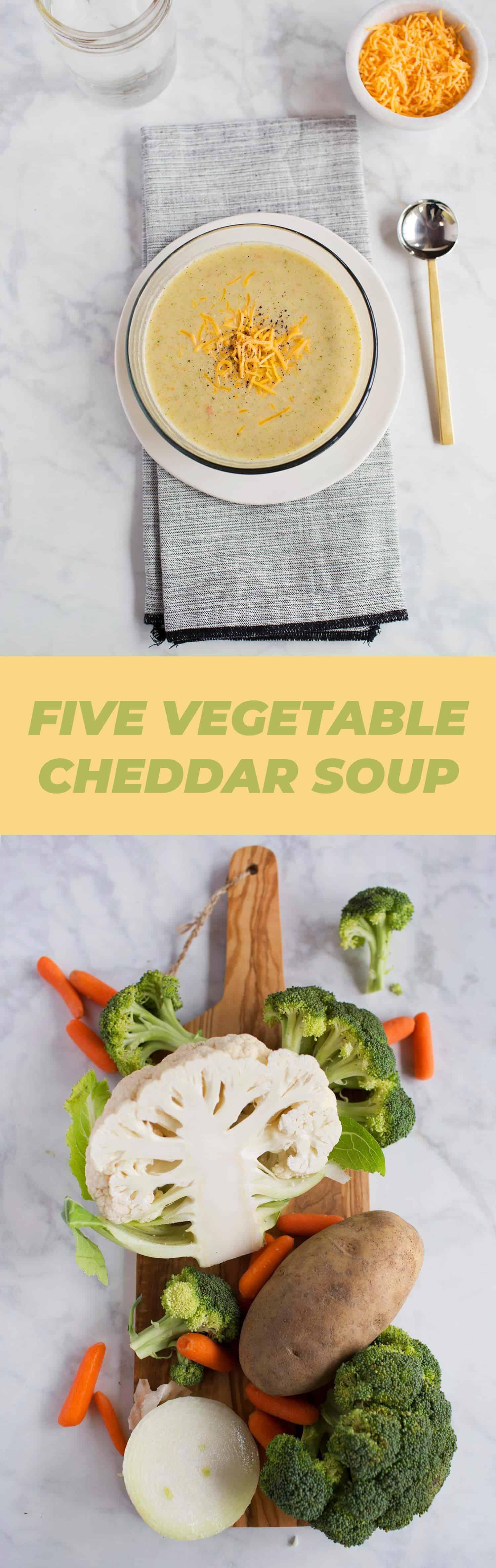 Fünf Gemüsecheddarsuppe