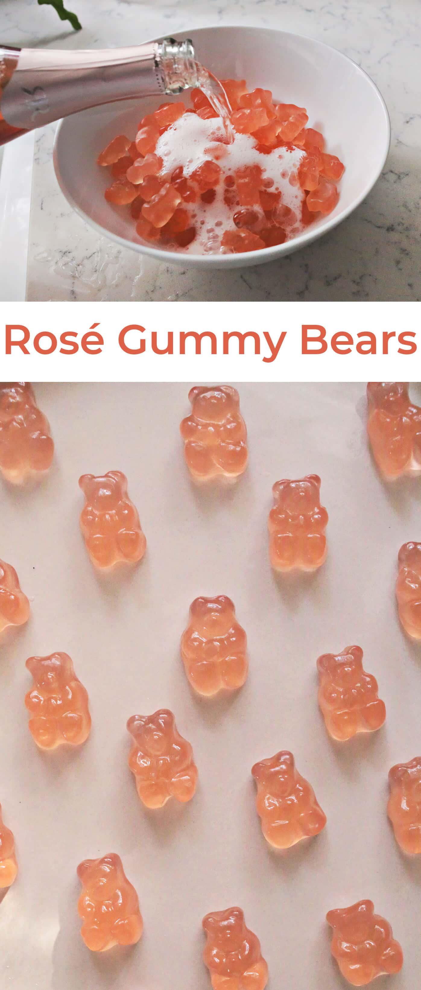 Versuchen Sie folgendes: Roségetränkte Gummibärchen