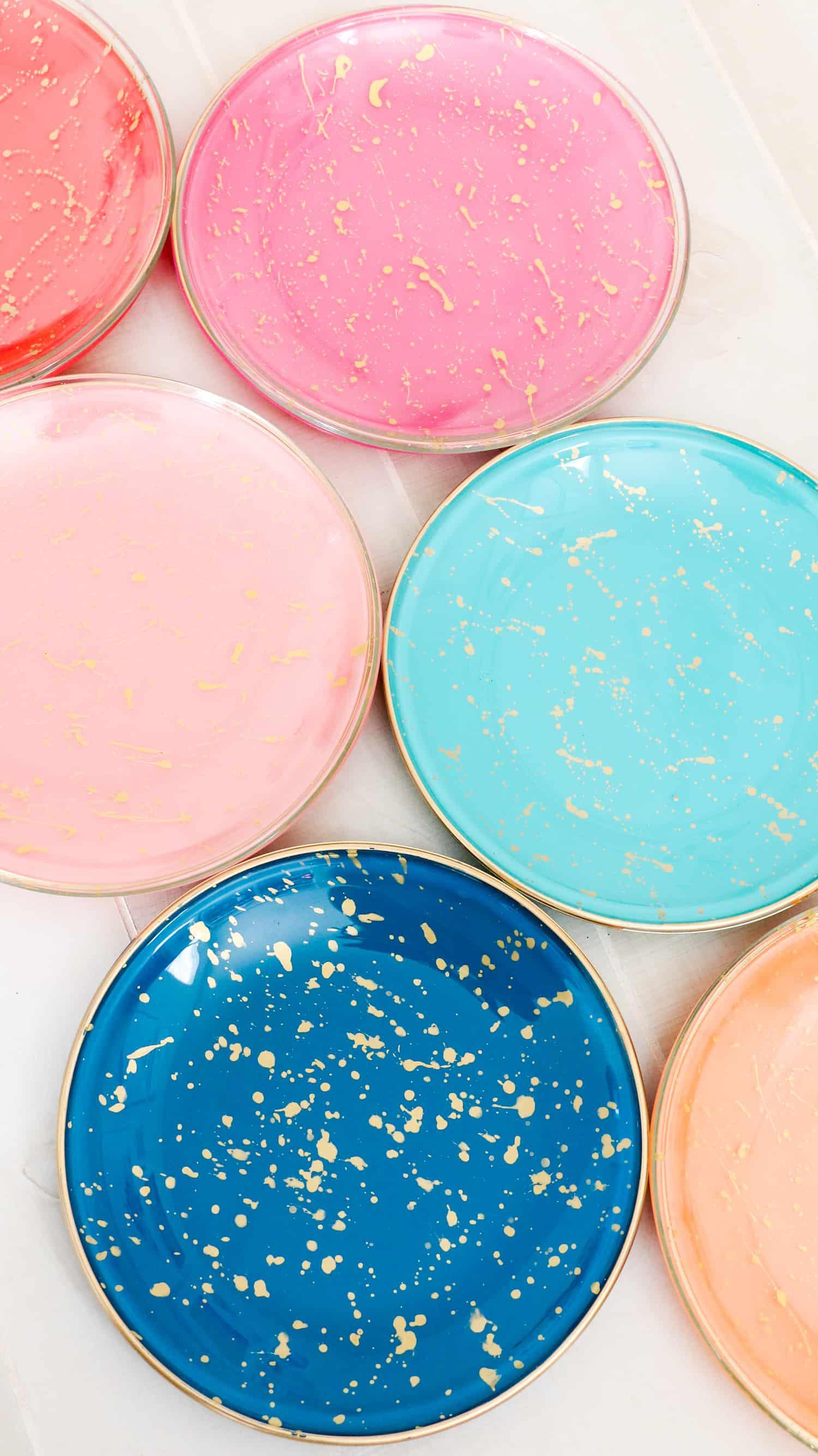 Diy Gold Splatter Paint Glass Plates A Beautiful Mess