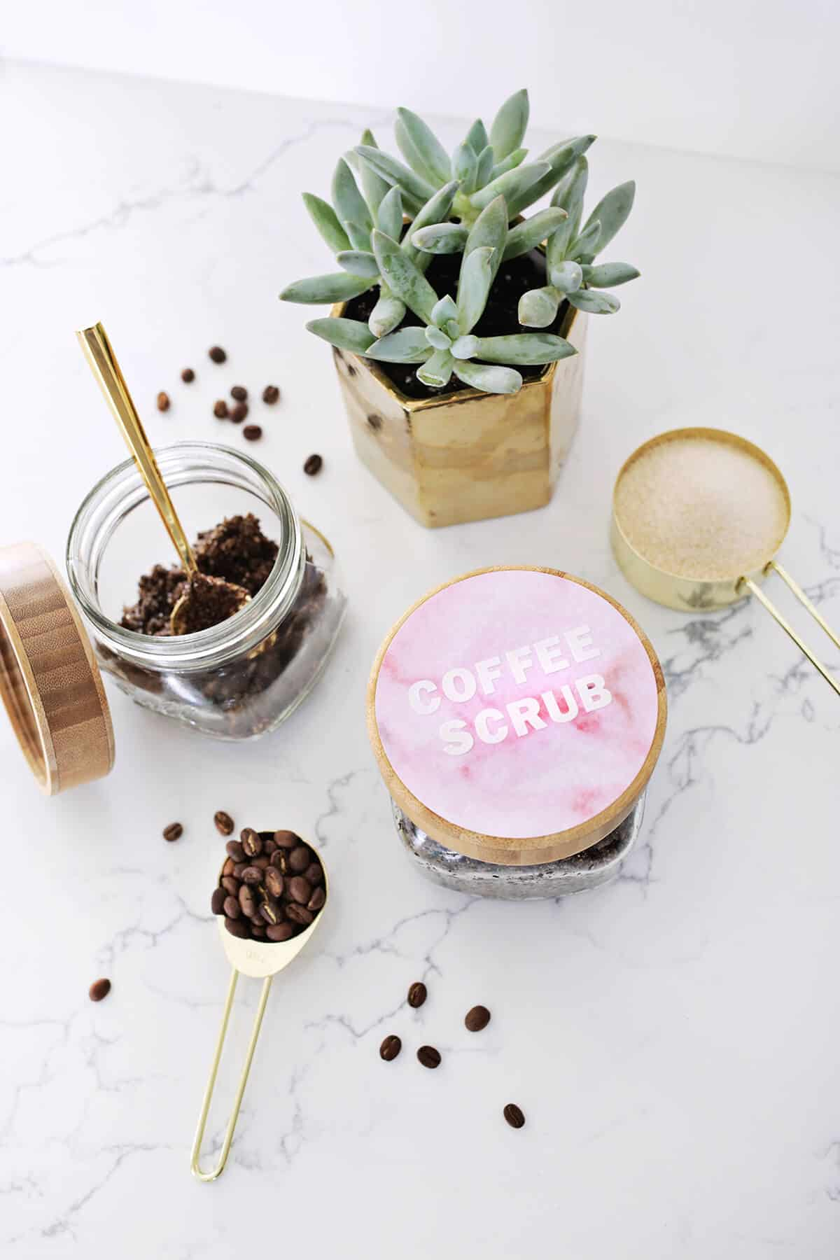 Vanilla Latte Coffee Scrub Diy A Beautiful Mess