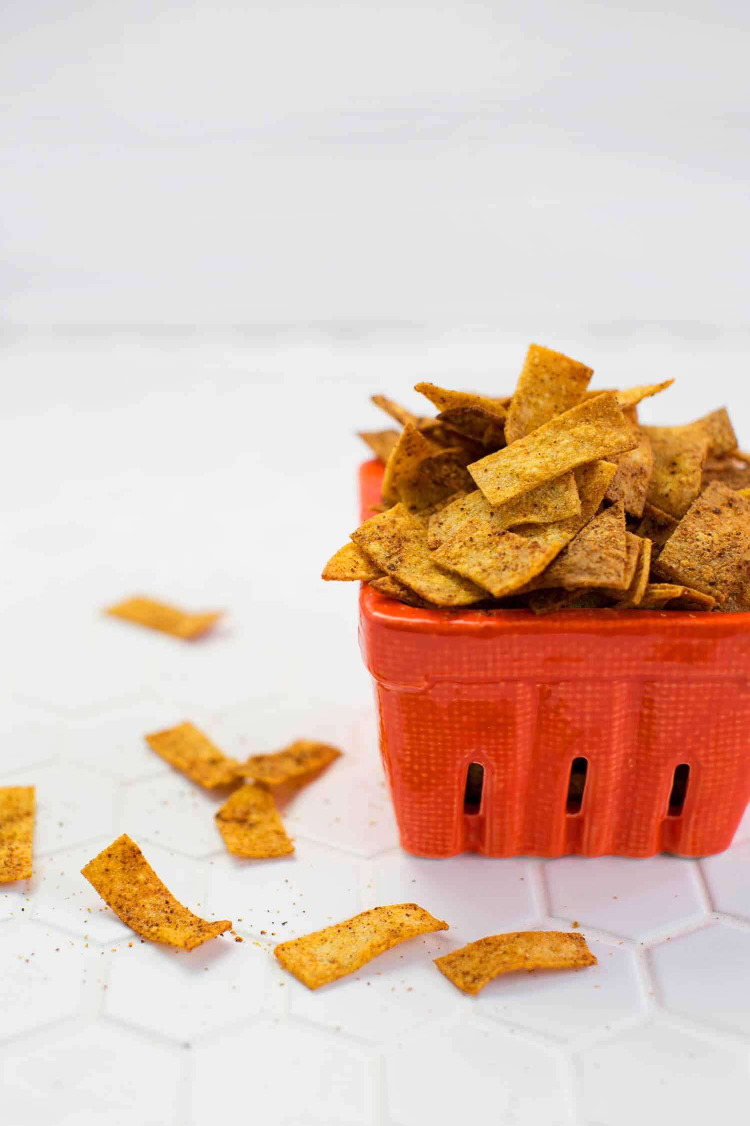 Gebackene Chili-Käse-Chips