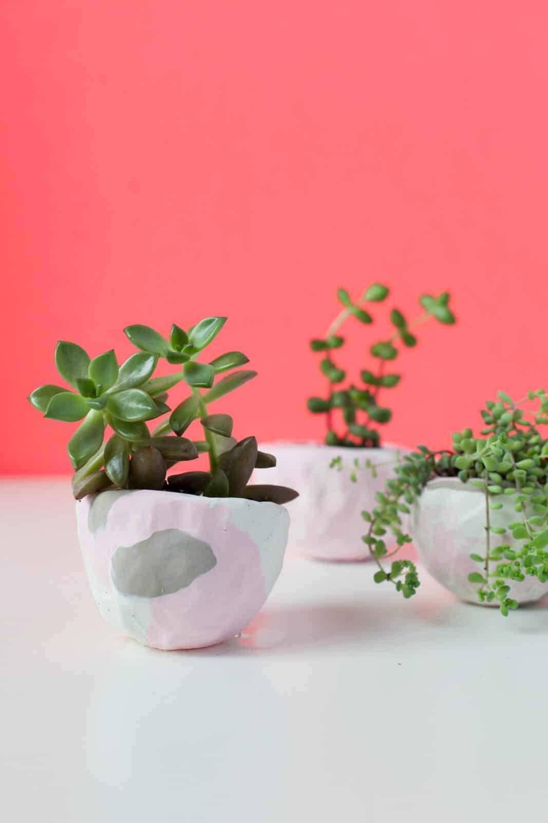 Diy Mini Pinch Pot Planters A Beautiful Mess