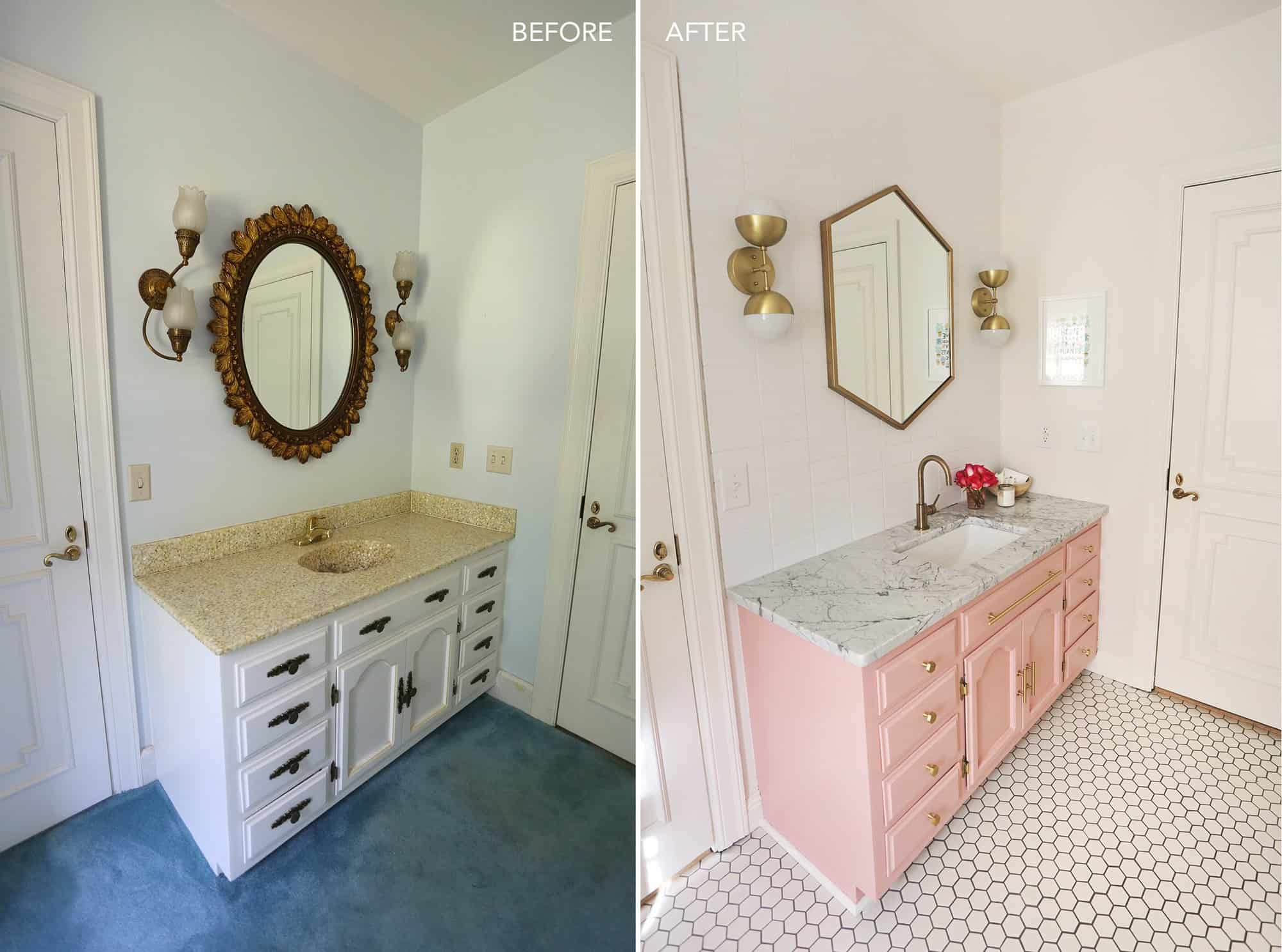 Elsie S Guest Bathroom Tour Before After A Beautiful Mess