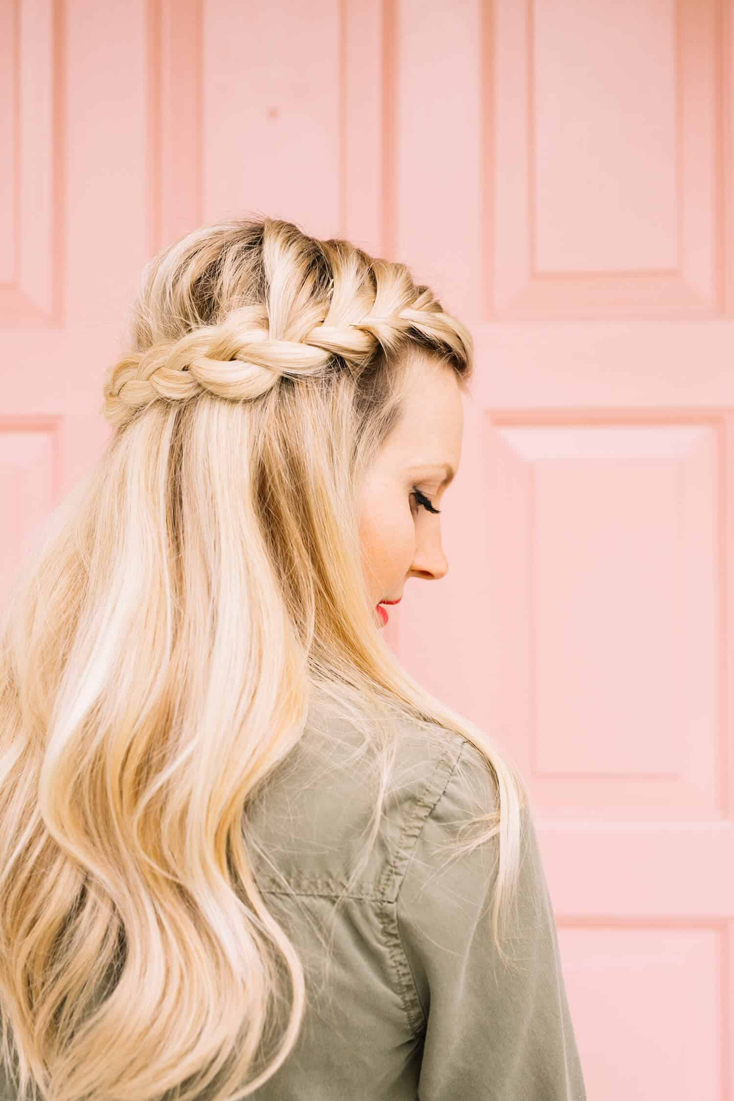 French Braid Half Crown A Beautiful Mess