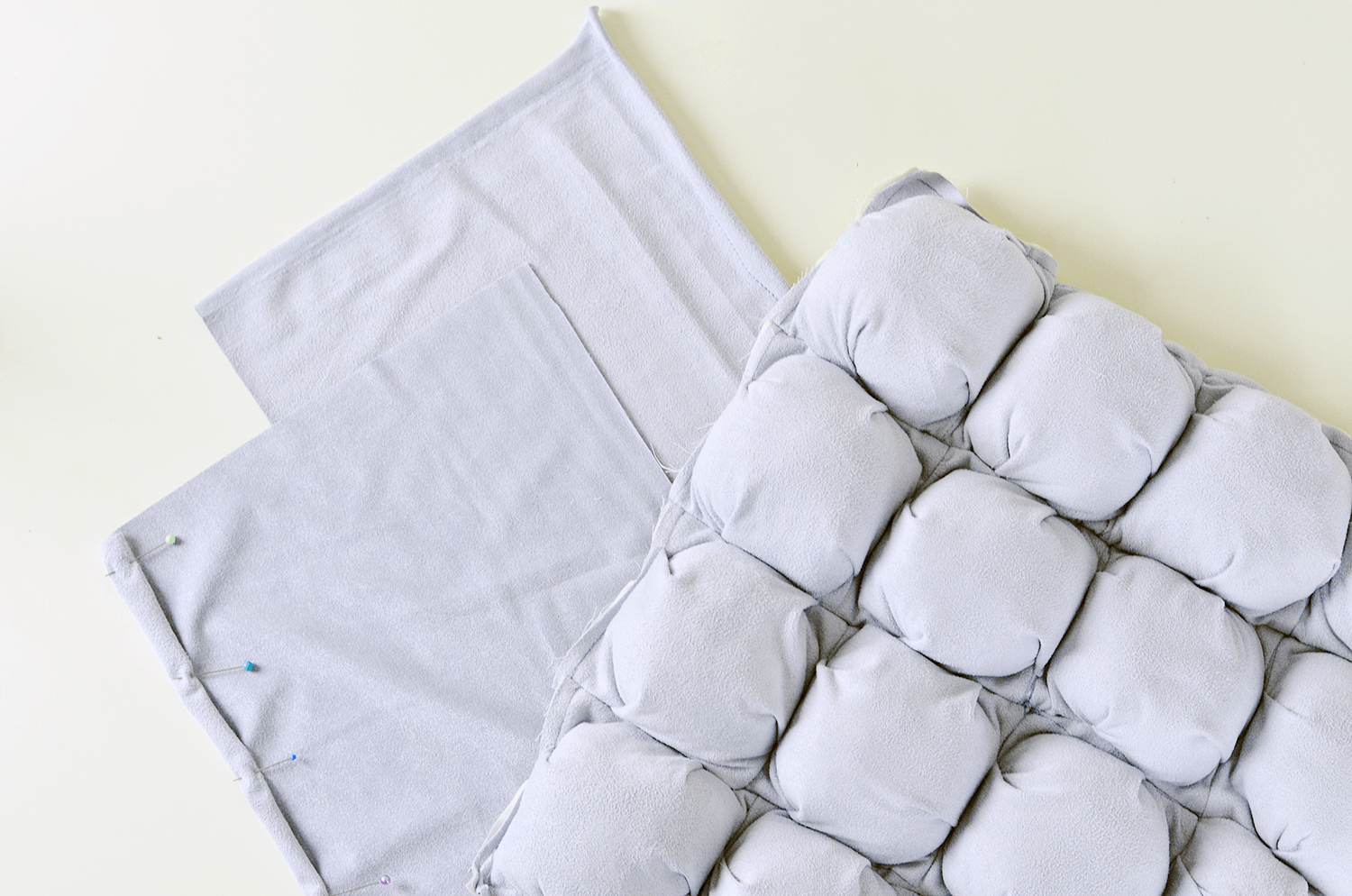 Make Your Own Puff Quilted Pillow Cover - Hem Back Panels