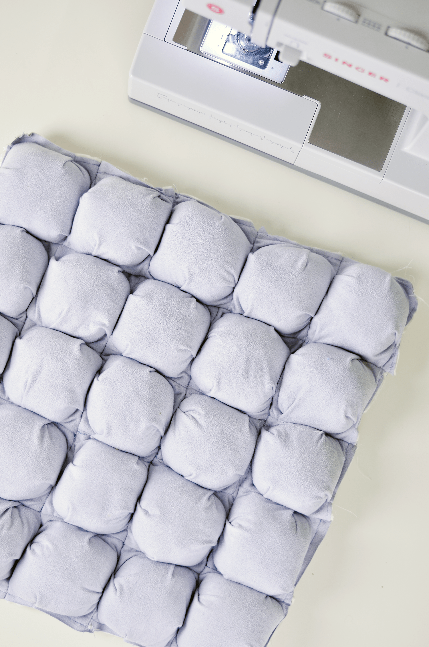 Make Your Own Puff Quilted Pillow Cover - Sew Puffs Together
