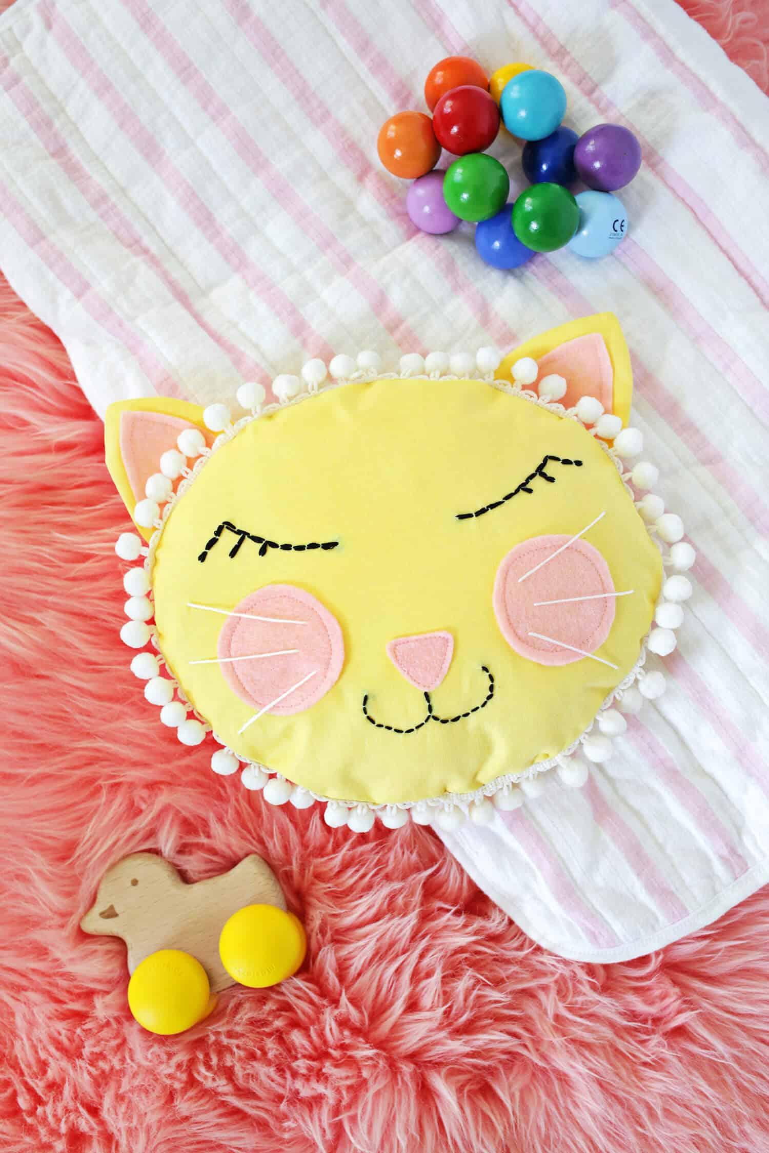Cat Face Pillow Diy A Beautiful Mess