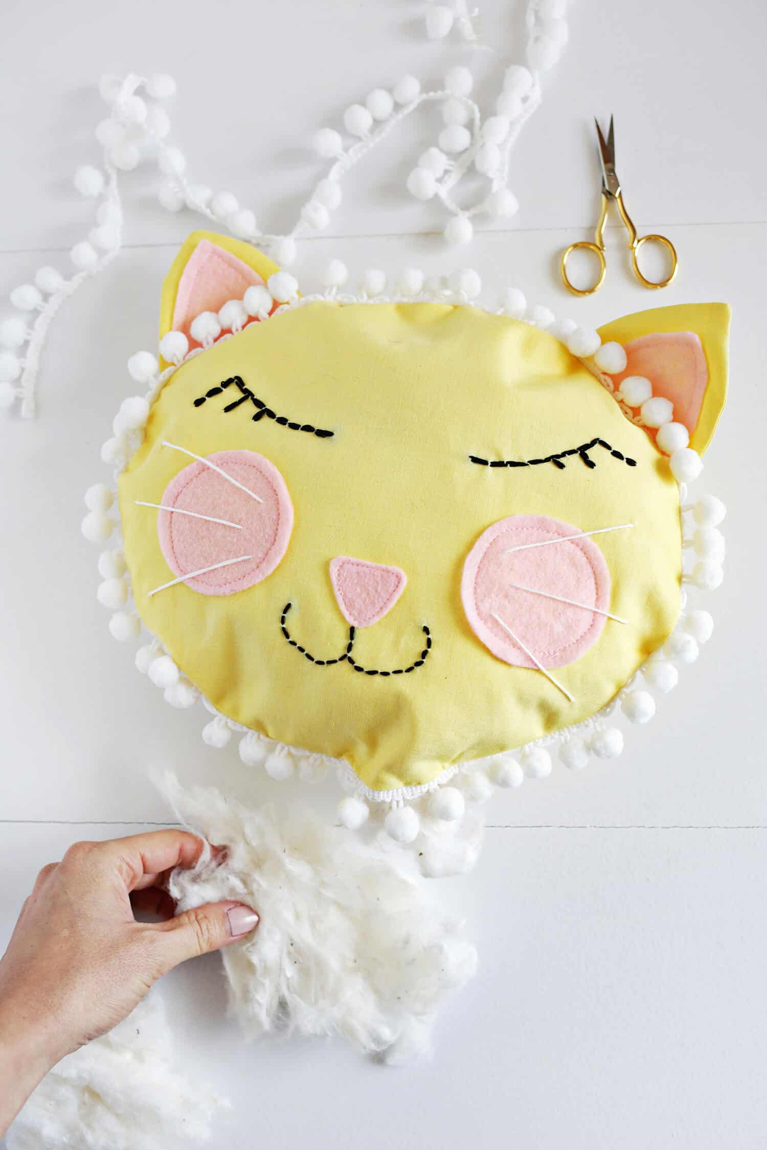 Cat Face Pillow Diy A Beautiful Mess