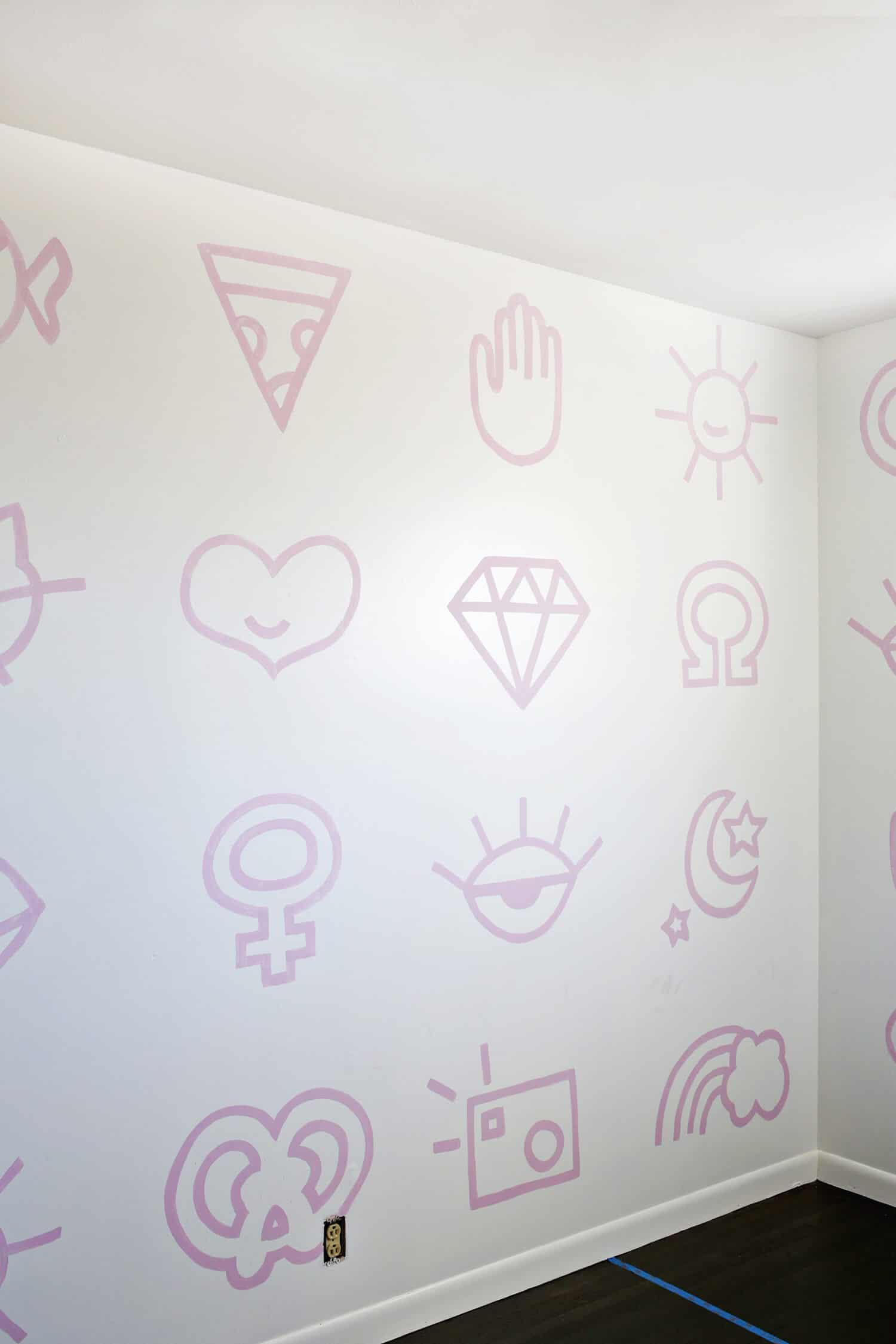 Painted Nursery Wallpaper DIY - A