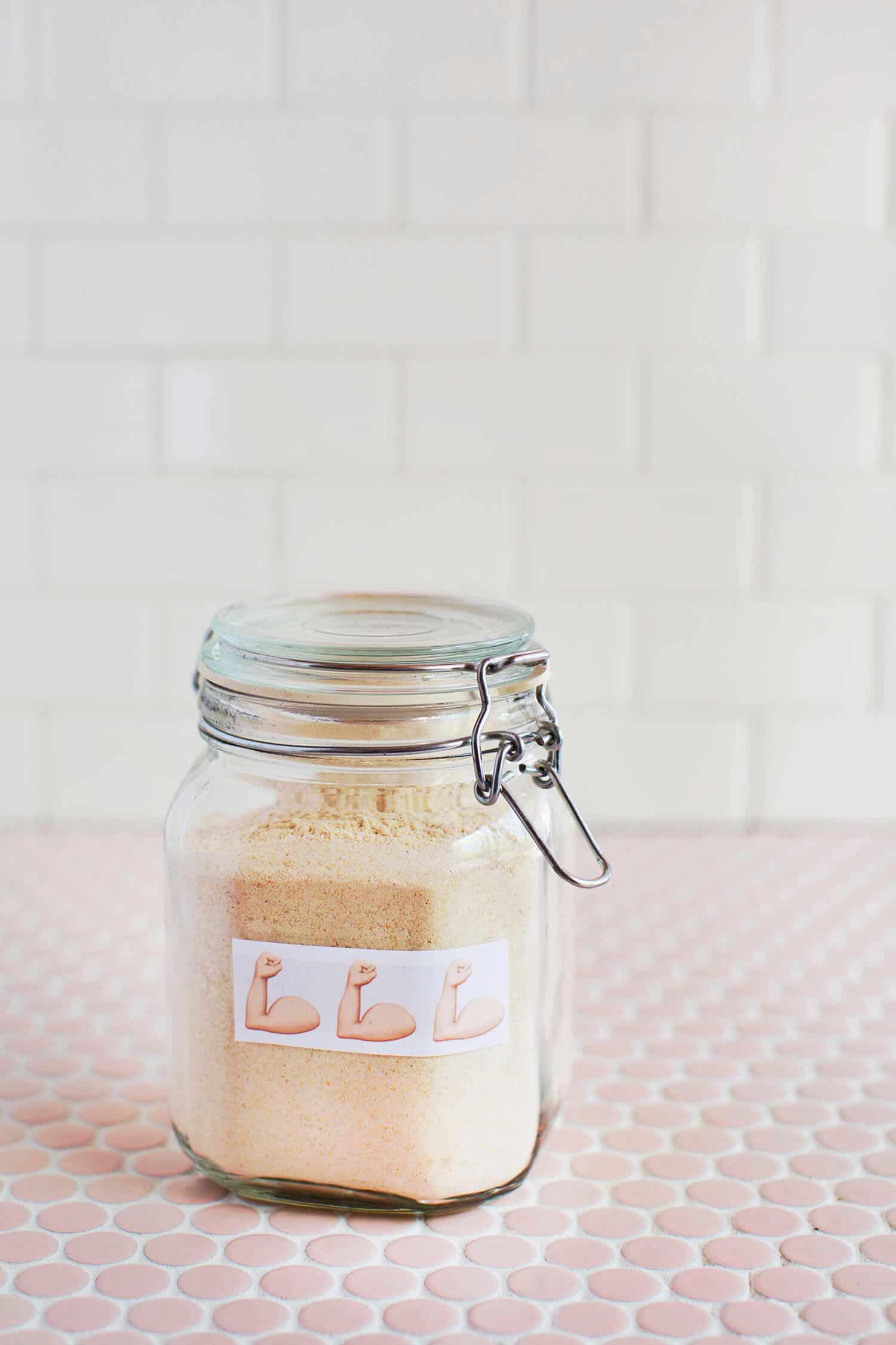 Selbst gemachte Vollkornprotein-Pfannkuchen-Mischung