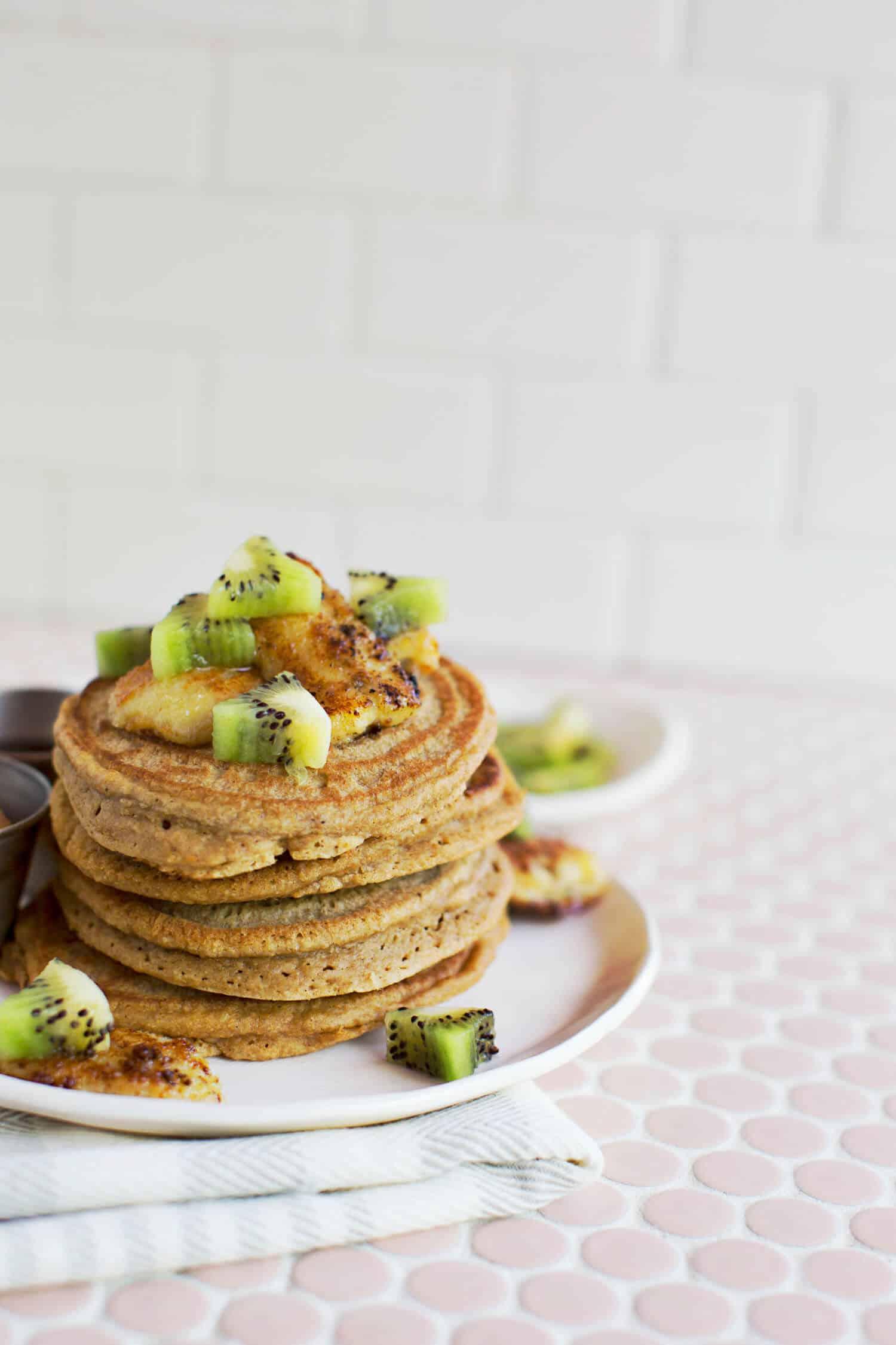 Homemade WholeGrain Protein Pancake Mix A Beautiful Mess