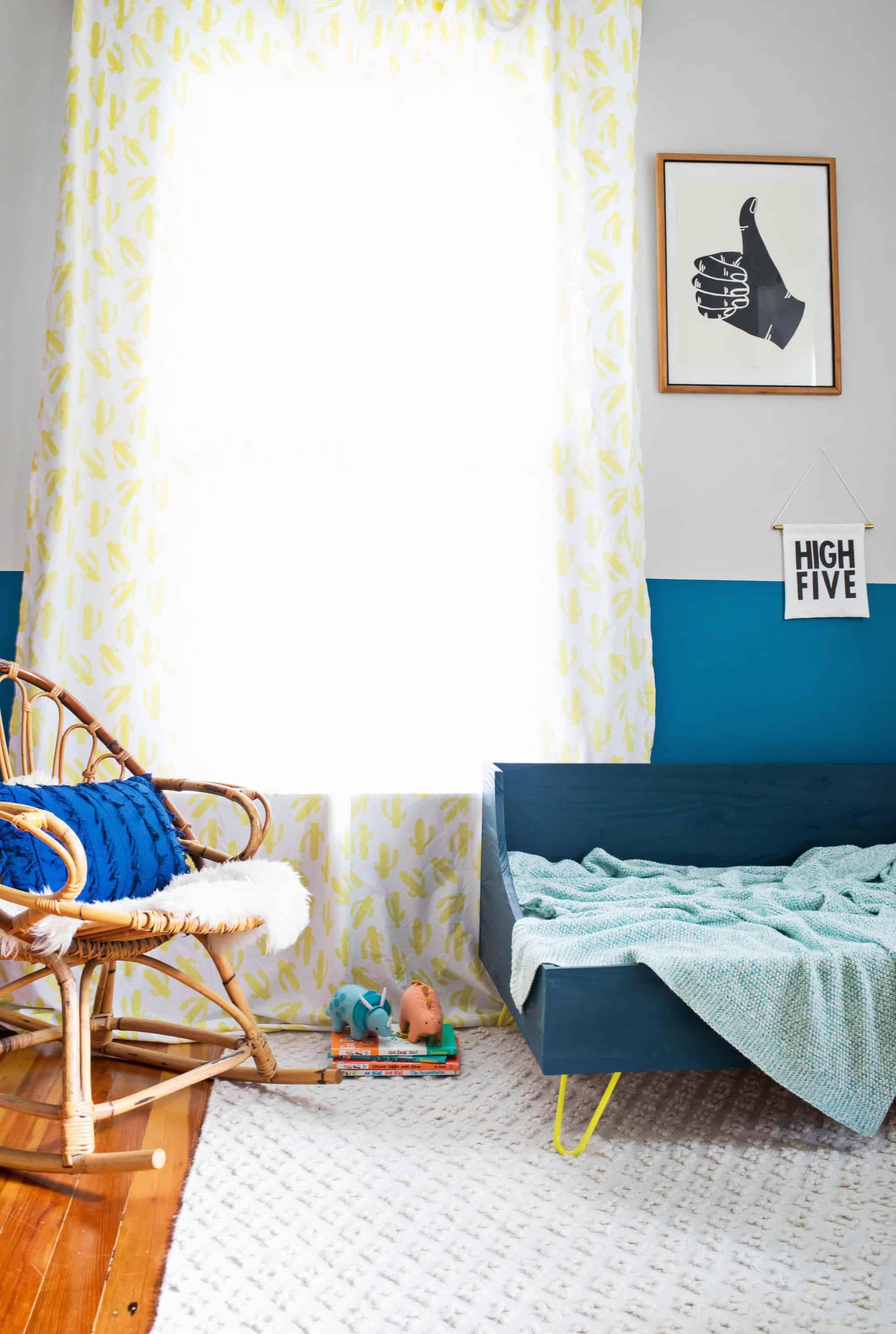 Modernes Kleinkindbett DIY
