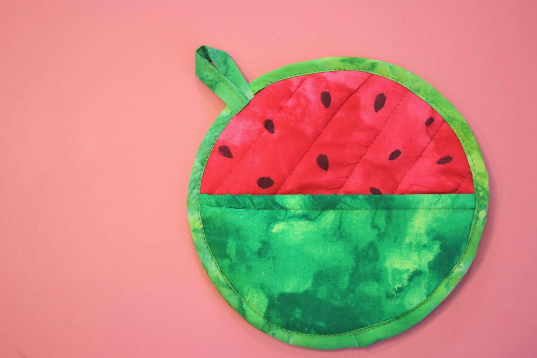Wassermelone Topflappen DIY