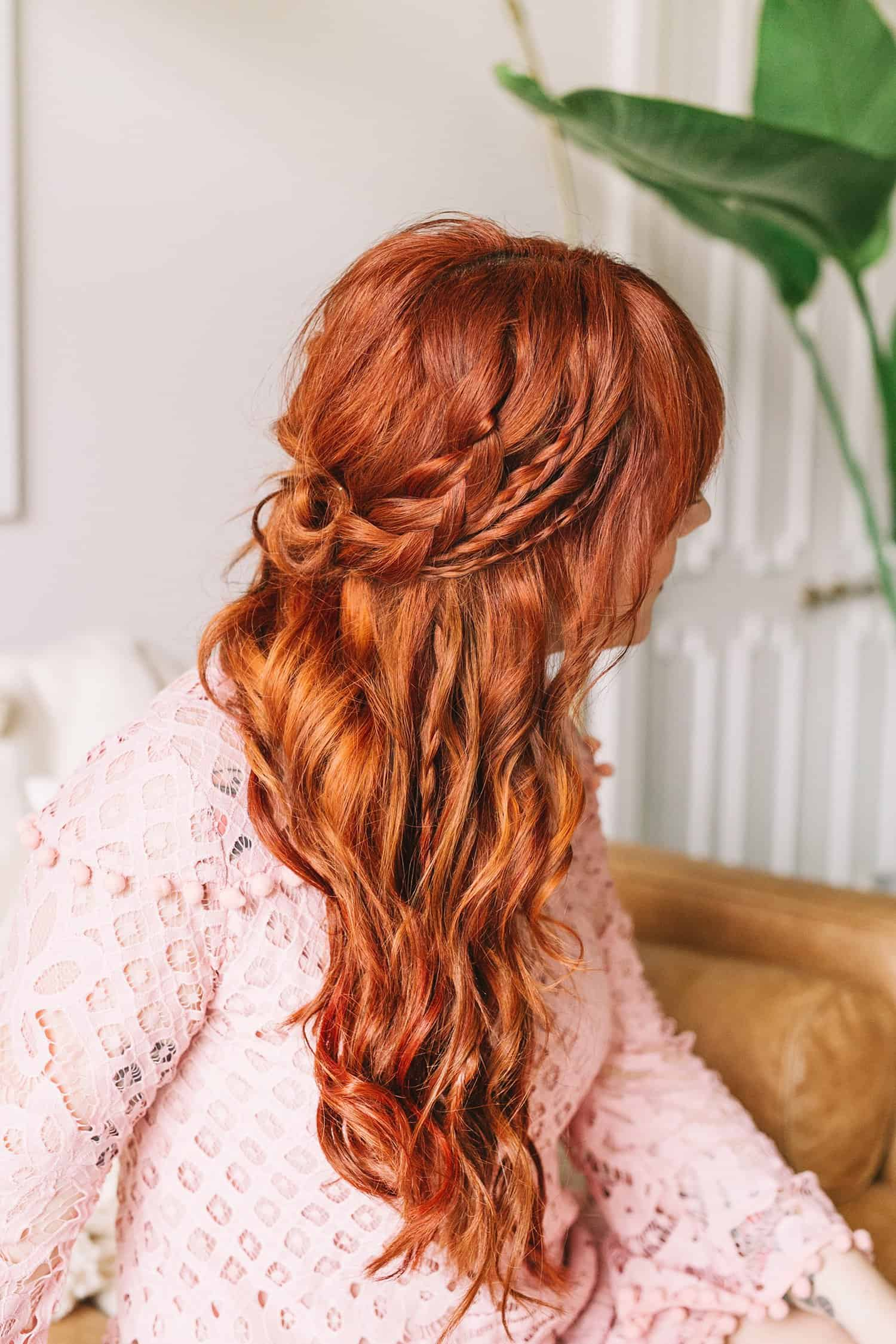 Braided wavy boho hair tutorial a beautiful mess lately i have been working on adding more variety to my hair routine i typically wear my go to style but i have been trying to mix it up a baditri Choice Image
