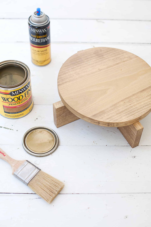 DIY Modern Wood Plant Stand