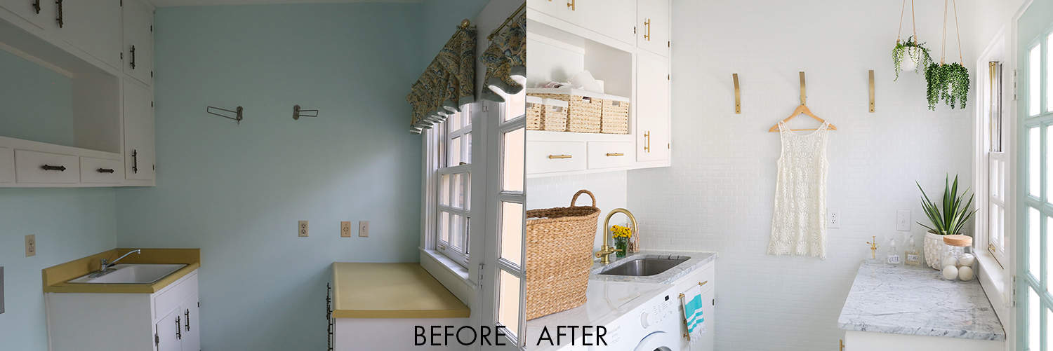 Linoleum Bad elsie s laundry room tour before after a beautiful mess