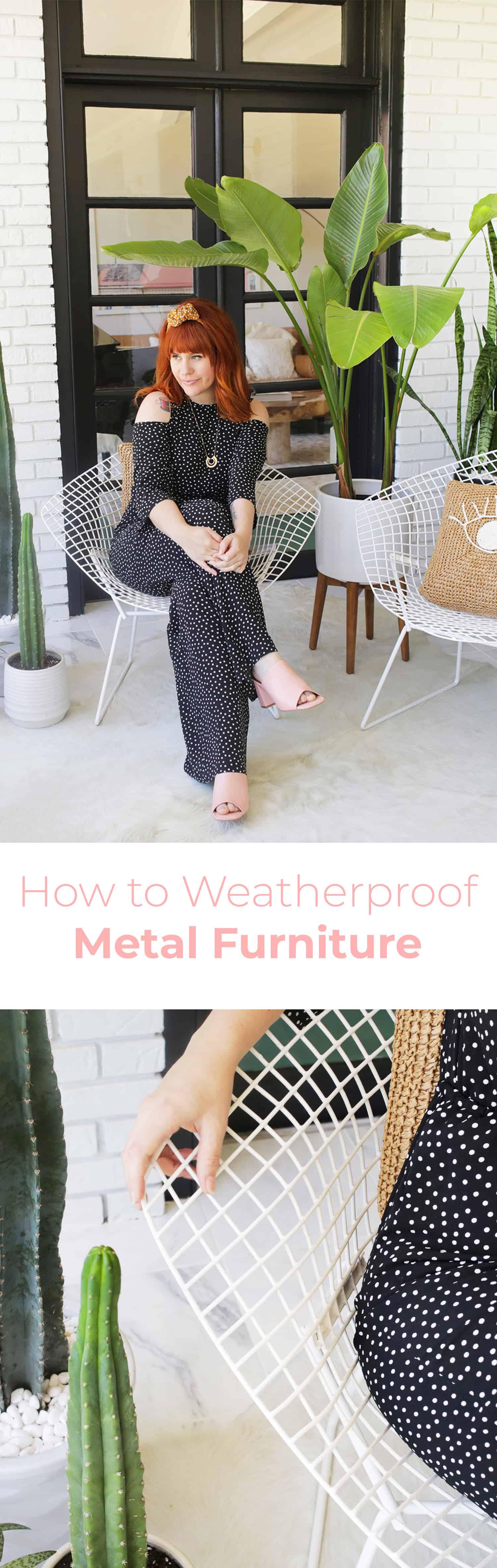 Wie Sie Ihre Metallmöbel für den Außenbereich wetterfest machen