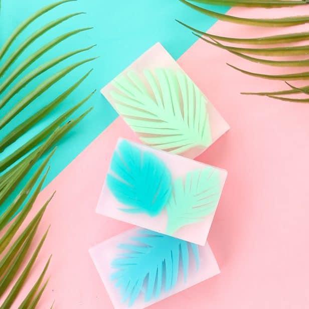 DIY Palm Leaf Soap
