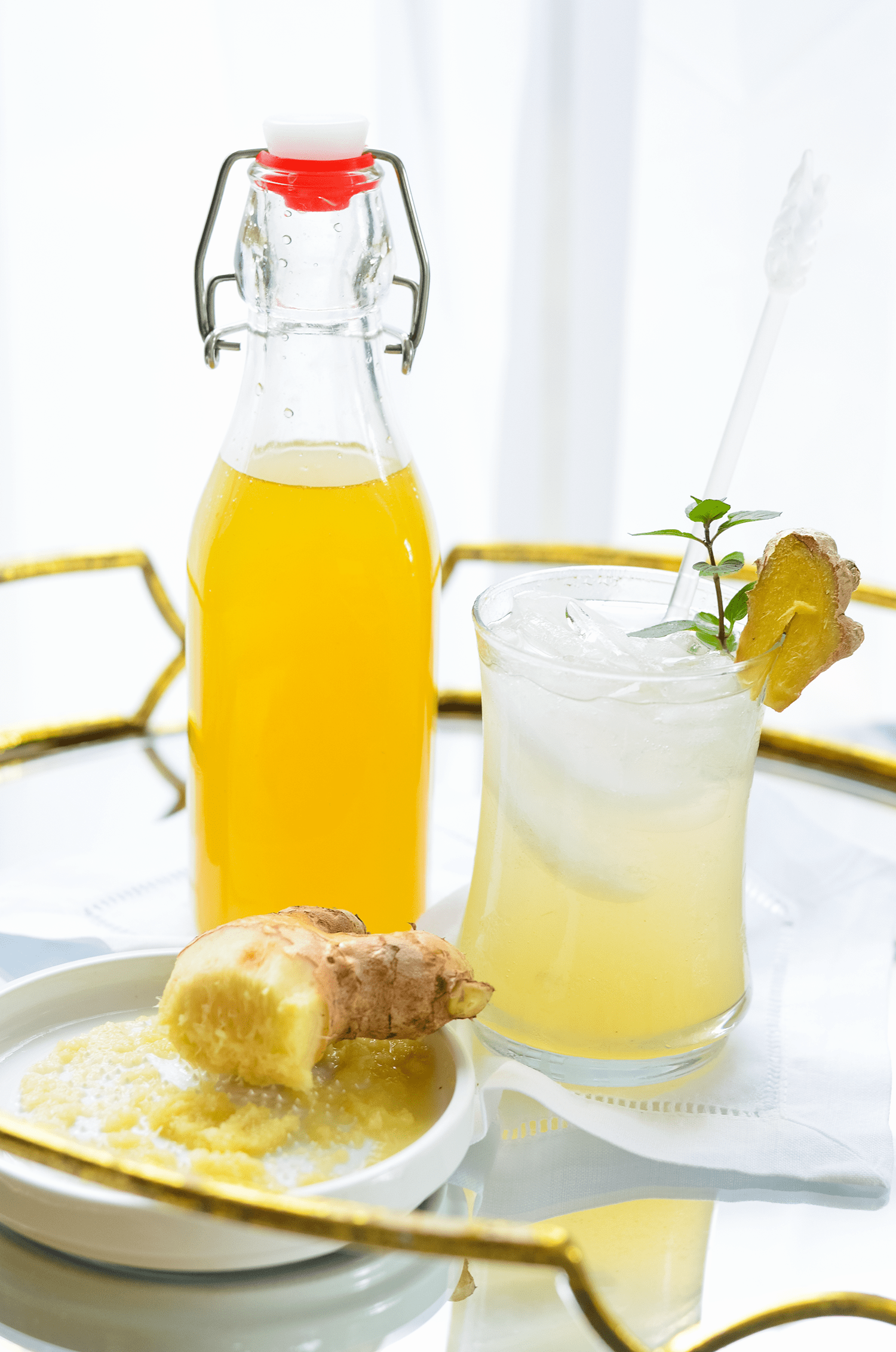 Make Your Own Fresh Ginger Simple Syrup