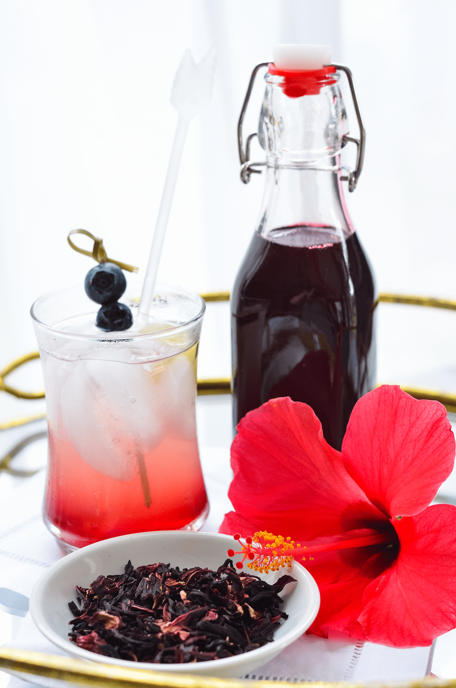 Make Your Own Lemon Hibiscus Simple Syrup