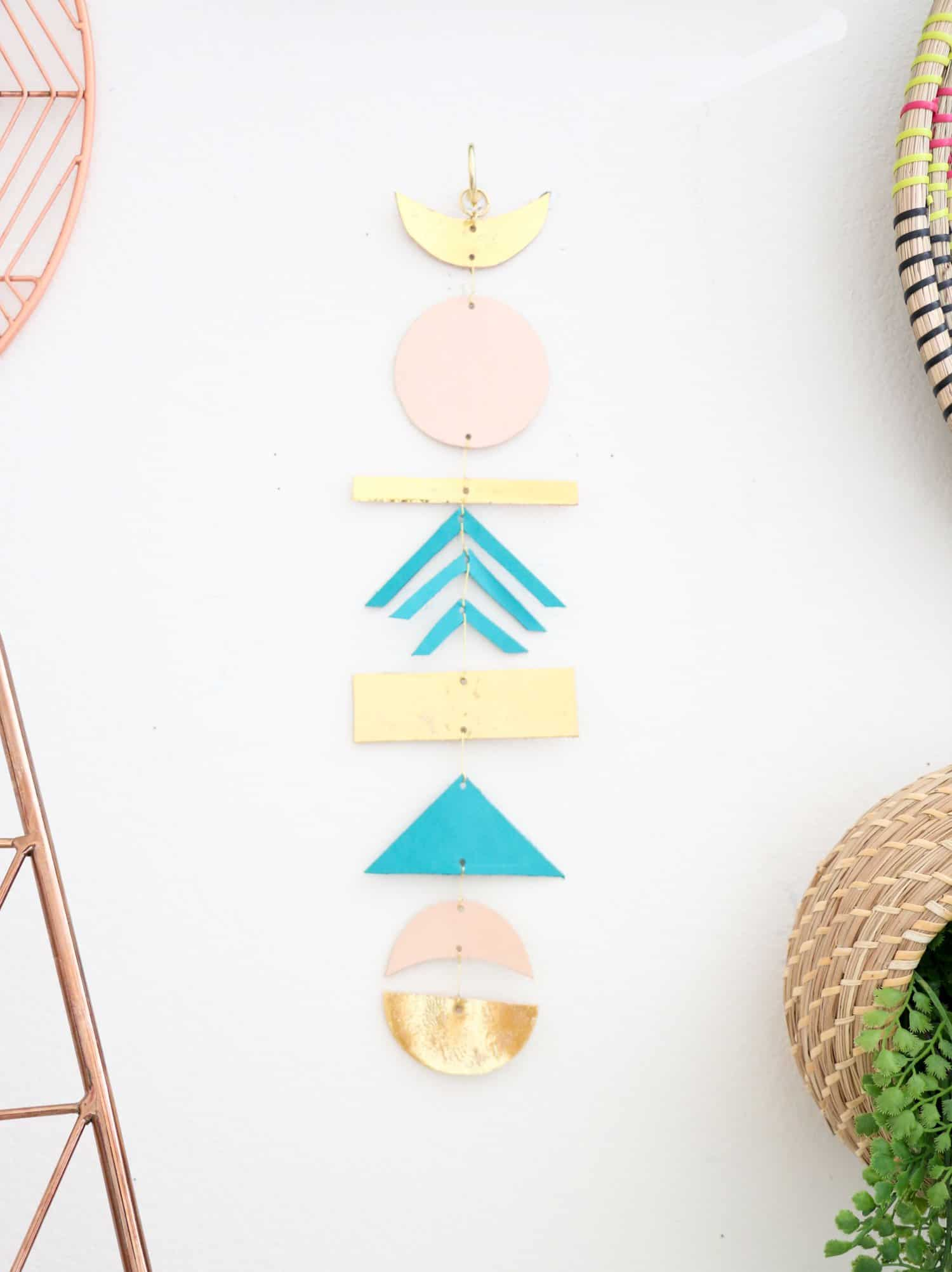 Make a Simple Leather Wall Hanging (Click Through for Tutorial)