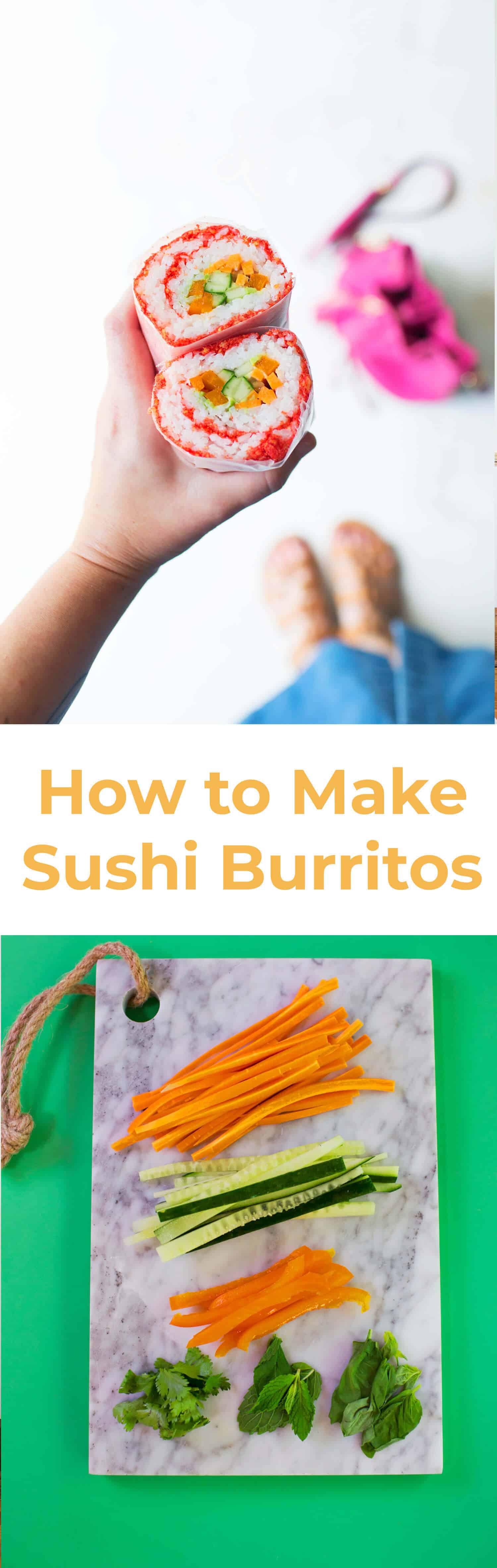 Wie man Sushi Burritos macht
