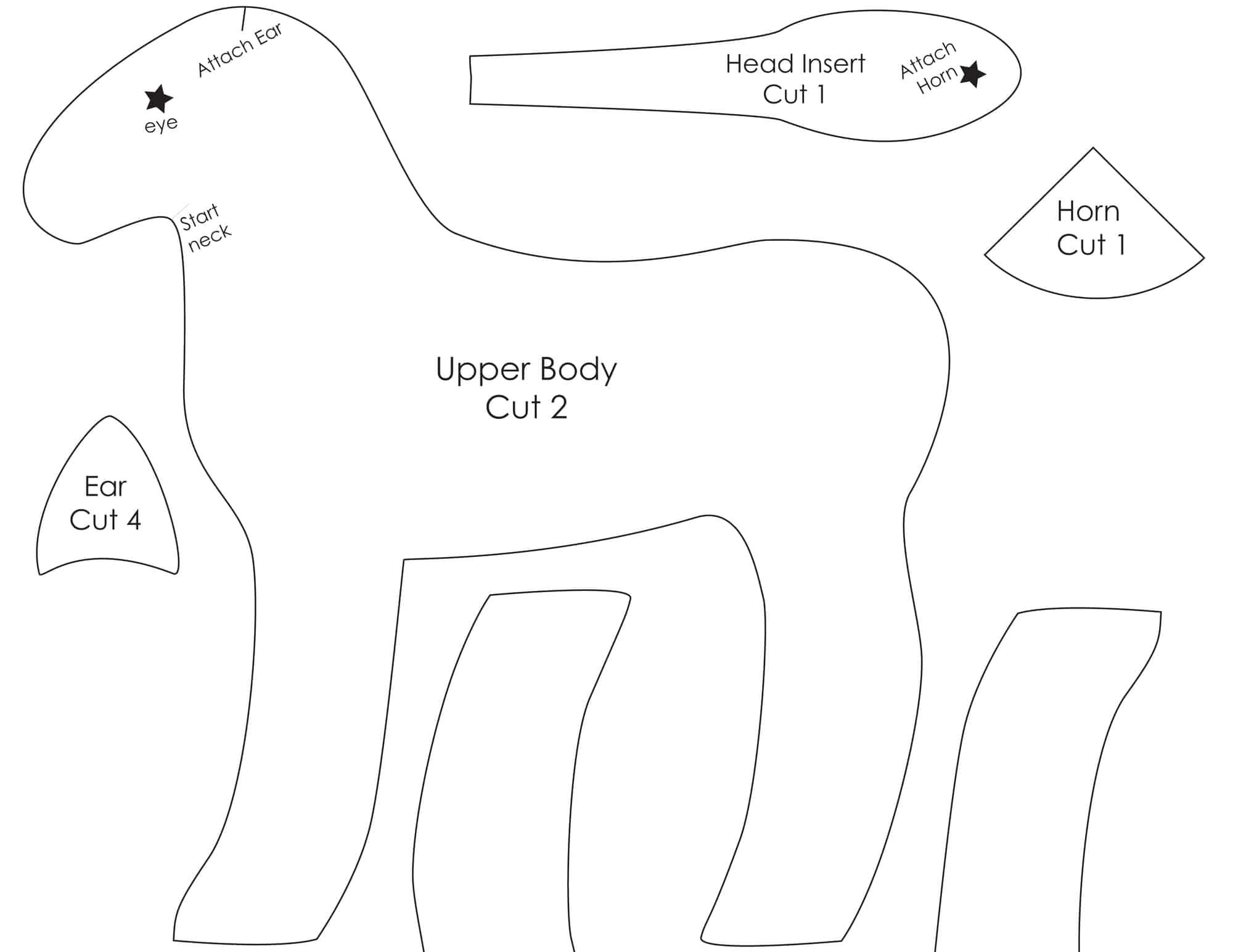 unicorn plush diy