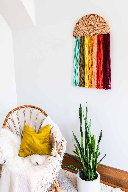 Einfache Garn Wandkunst DIY