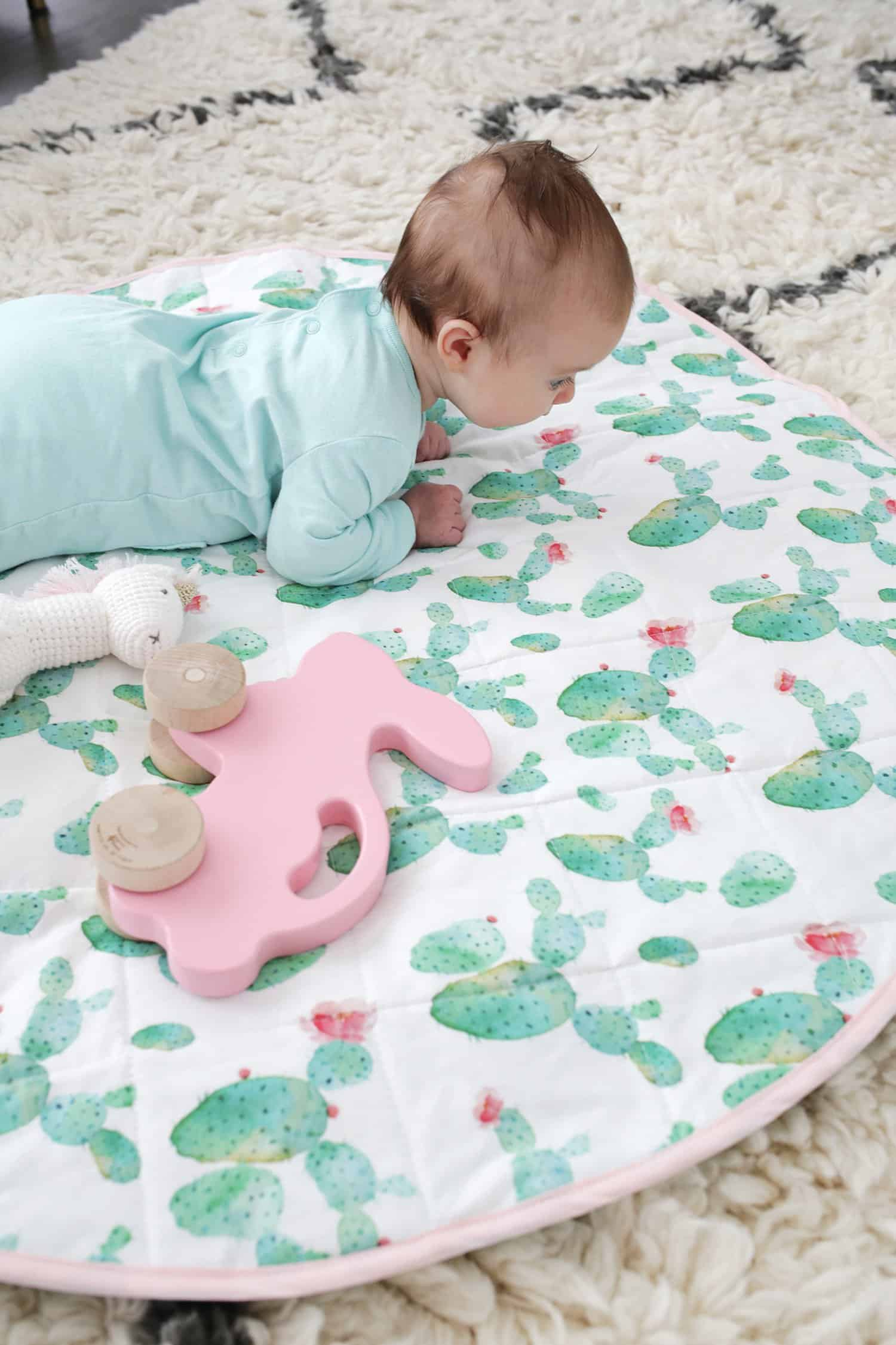 Round Quilted Play Mat Diy A Beautiful Mess