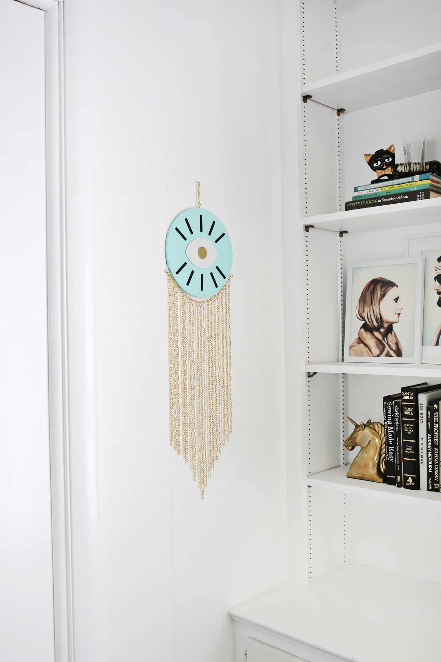 Goldkette Wand hängen DIY