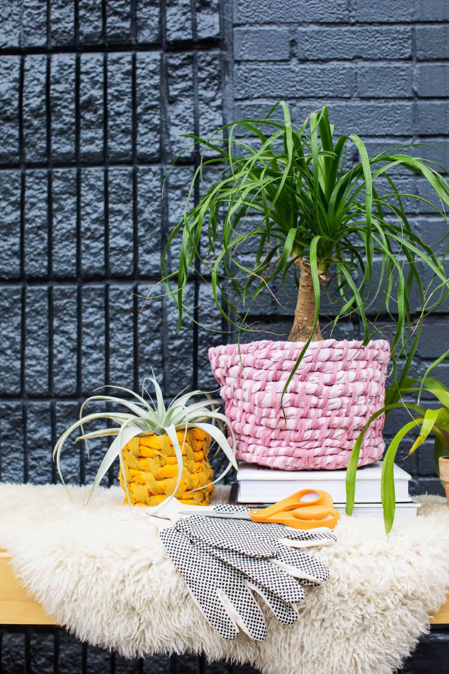 3 Easy Diy Storage Ideas For Small Kitchen: Easy Fabric Planter DIY