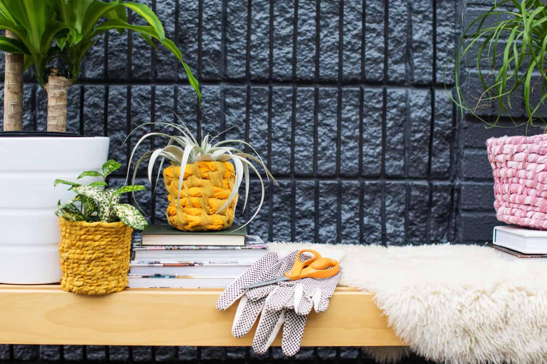 Easy Fabric Pflanzgefäß DIY