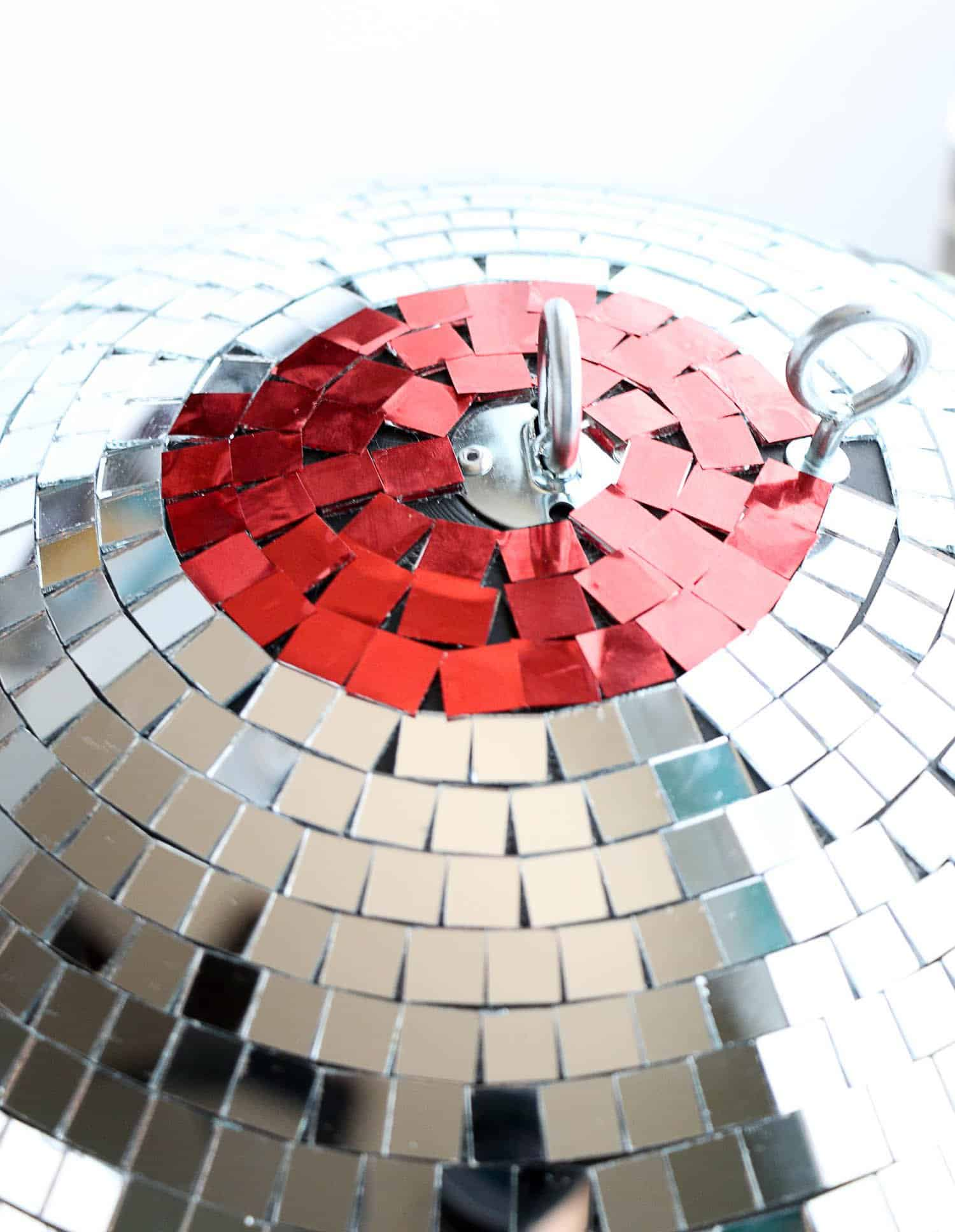 Make your own rainbow disco ball