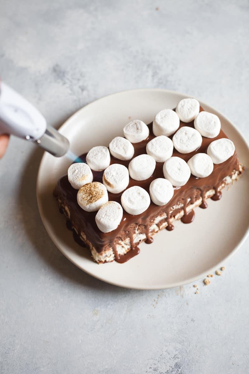 No-Bake S'mores Icebox Cake