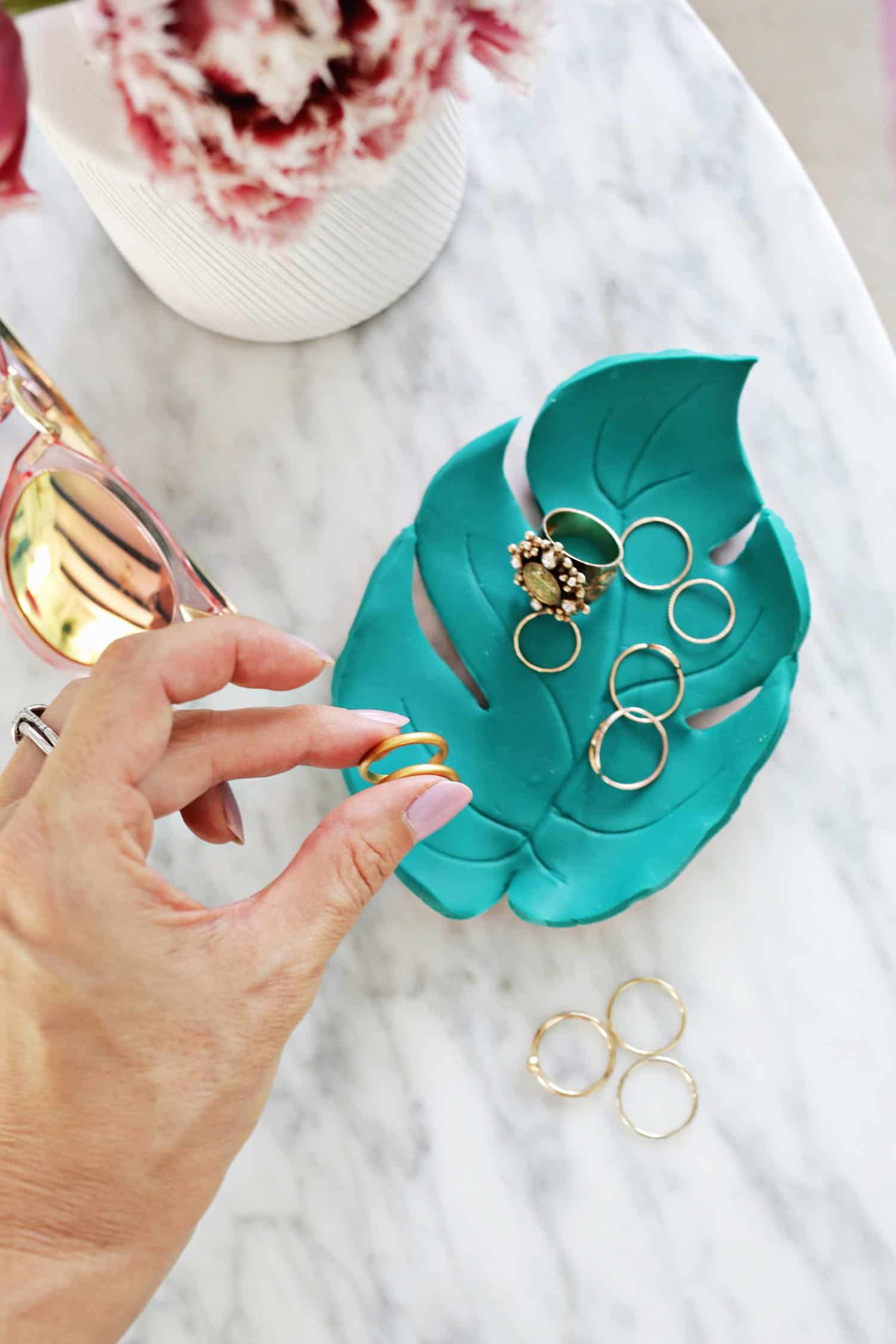 Palm Leaf Ring Dish DIY