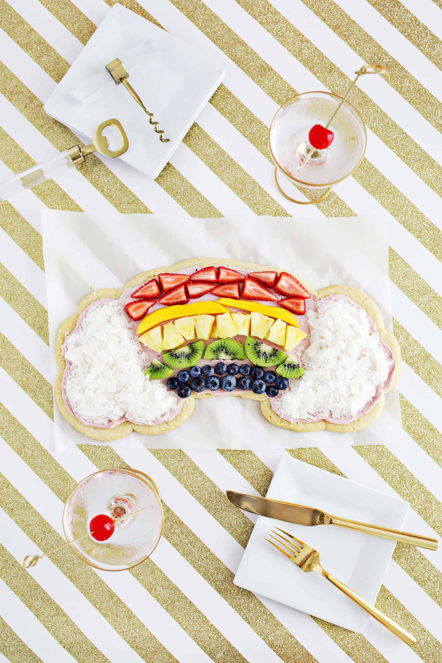 Regenbogenfrucht-Pizza!