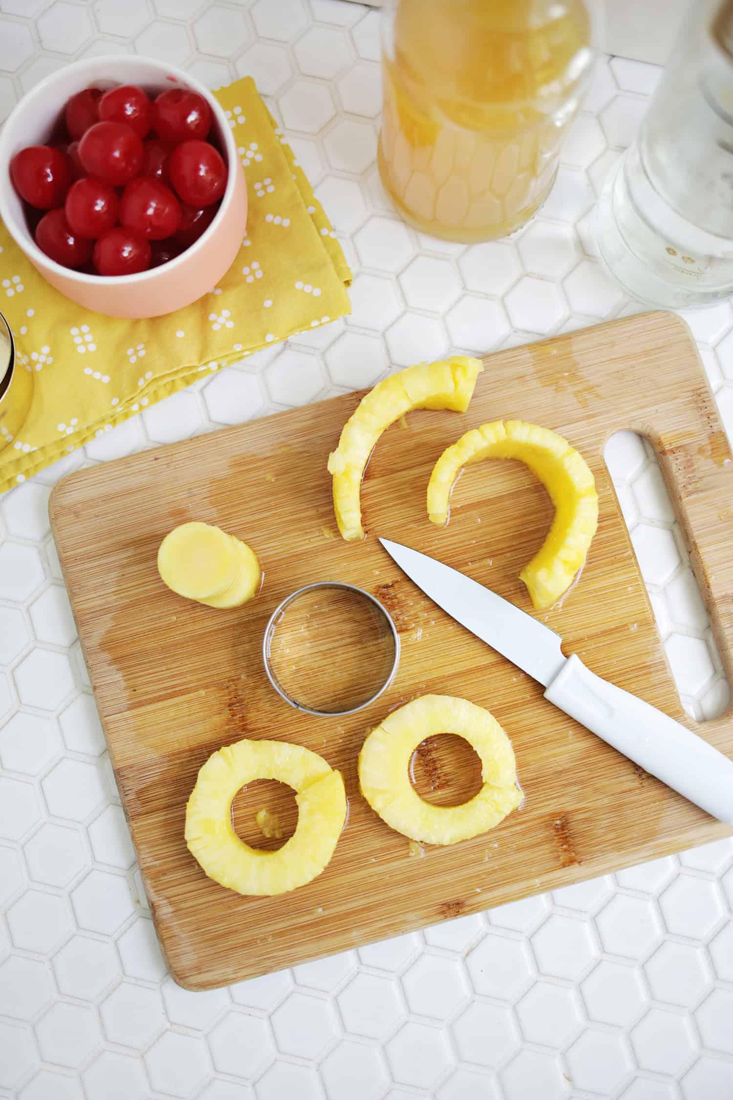Ananas auf den Kopf Kuchen Jello Shots!